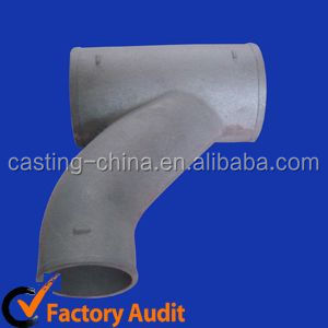 OEM & ODM sand casting seamless ductile iron tee pipe for pipeline