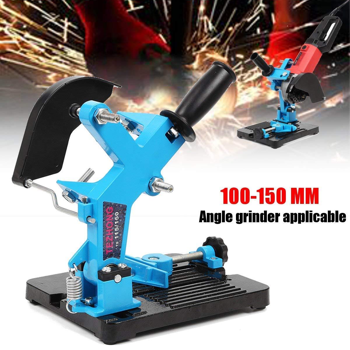 Blue 100-150 Angle Grinder Stand Support Cast Iron Base Bracket Holder 20x30x24c