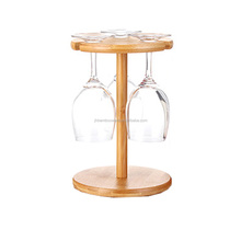 bamboo wine glass drying rack, row stem glass holder wholesale
