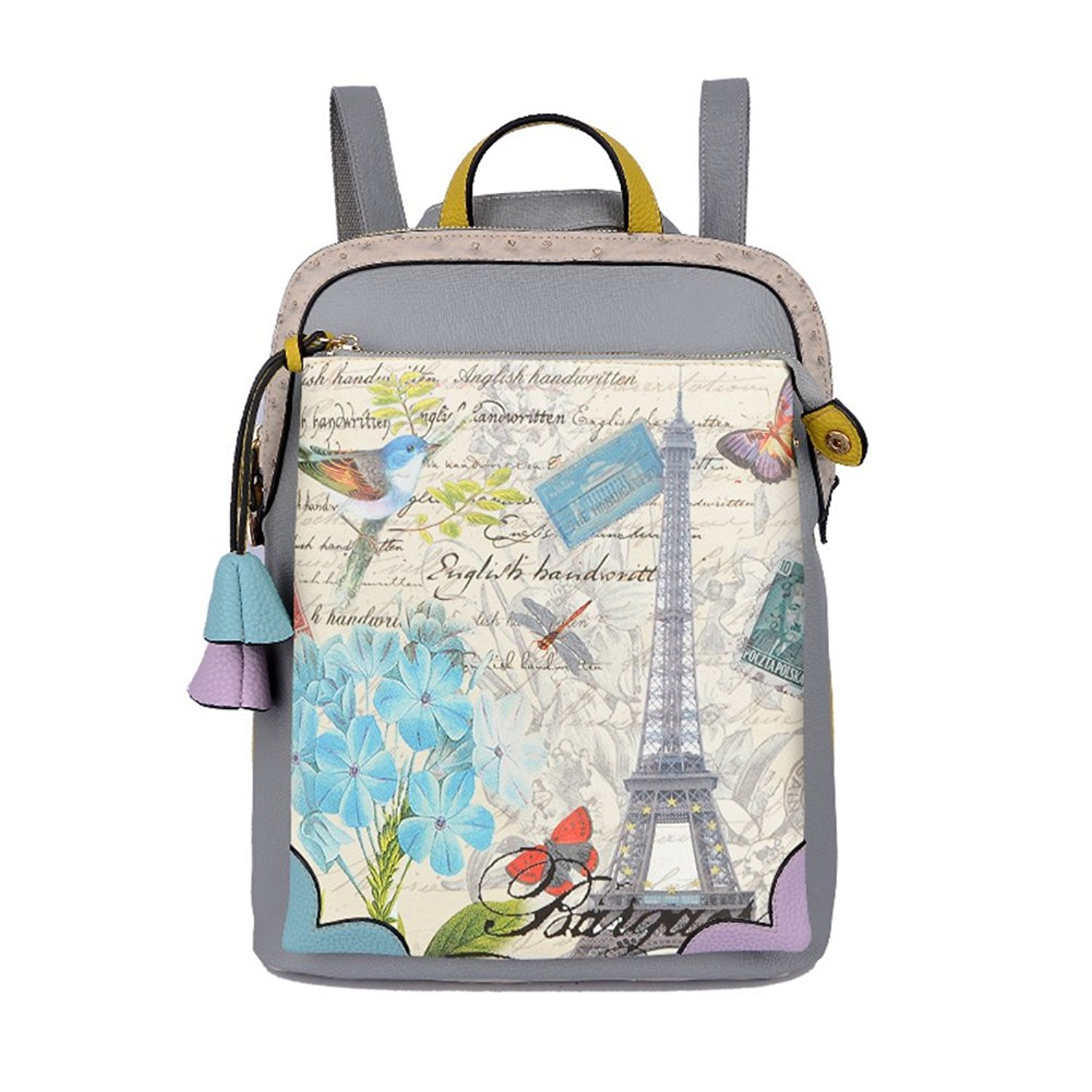 LYCSIX66 Fashionable Durable Waterproof PU Leather Backpack for Girls