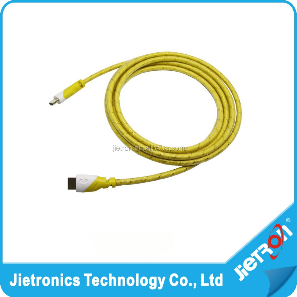High Speed 4K of HD MI cable V1.4, 4K, 19+1, 30AWG, OD:7.3mm, length: 3M, with mesh grid outer protector, Gold plated.