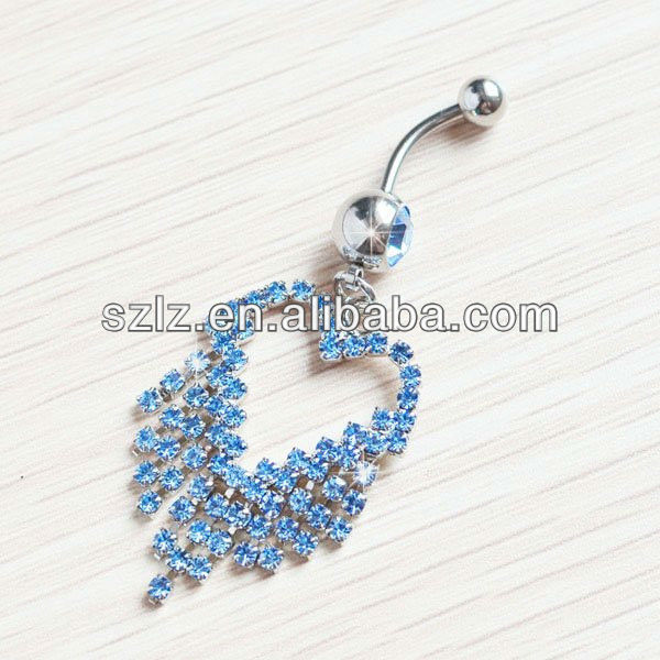 elephant diamond navel belly ring