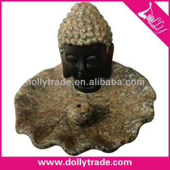 Antique Buddha Head Marble Queimadores De Incenso Atacado