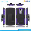 PC+Silicone Rugged Shockproof Hard Cover Kickstand Case For LG K10/M2/F670