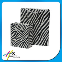 Fancy Custom Zebra Crossing Printing Paper Bags for Various-size for Choose