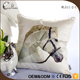 Wholesale price custom printed horse head pattern decorative silk square 3d pillow
