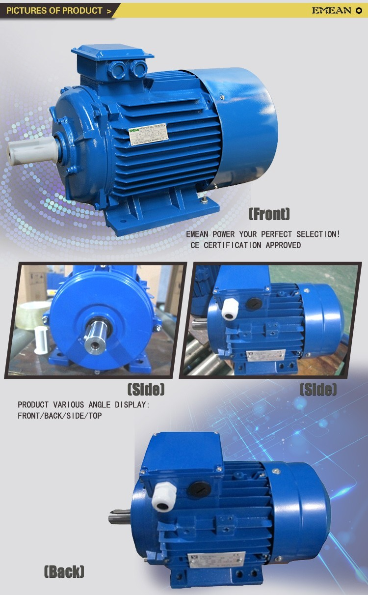 Y2 slow speed small electric motor bearings vibrating for Small electric vibrating motors