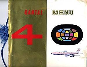 Qantas 40th Anniversary Menu 1920 - 1960 Australian Airline