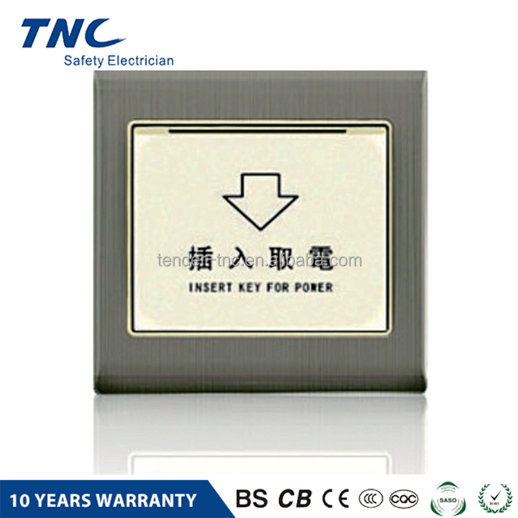 New Products Fire Resistant Hotel Energy Saving Key Card Controlled Switch