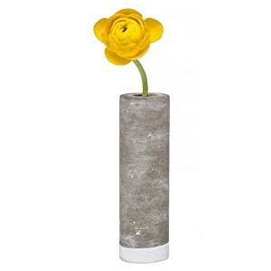 Chive - Cement Bud Flower Vase with Glass Tube Insert, Large