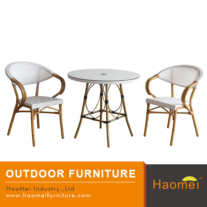 bamboo like 2 chairs casual rattan outdoor dining table set