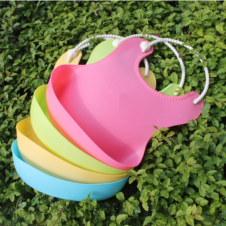 hot selling silicone baby bib waterproof full colors