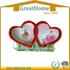 Beautiful Wedding Gift Love Heart Shaped Plastic Table Alarm Clock Valentine's Day gifts