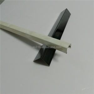 Anti-corrosion tile edge trim brown stainless steel u factor tile trim for marble edge