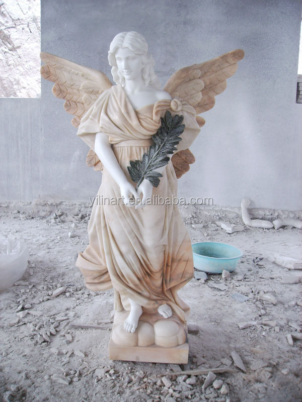 Grey Large Marble Angel Statues/nude Sexy Angel Statue Yl-r437 ...