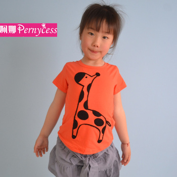 Beautiful Boy Girl T Skirt Supplier Kids Clothe Giraffe Cartoon