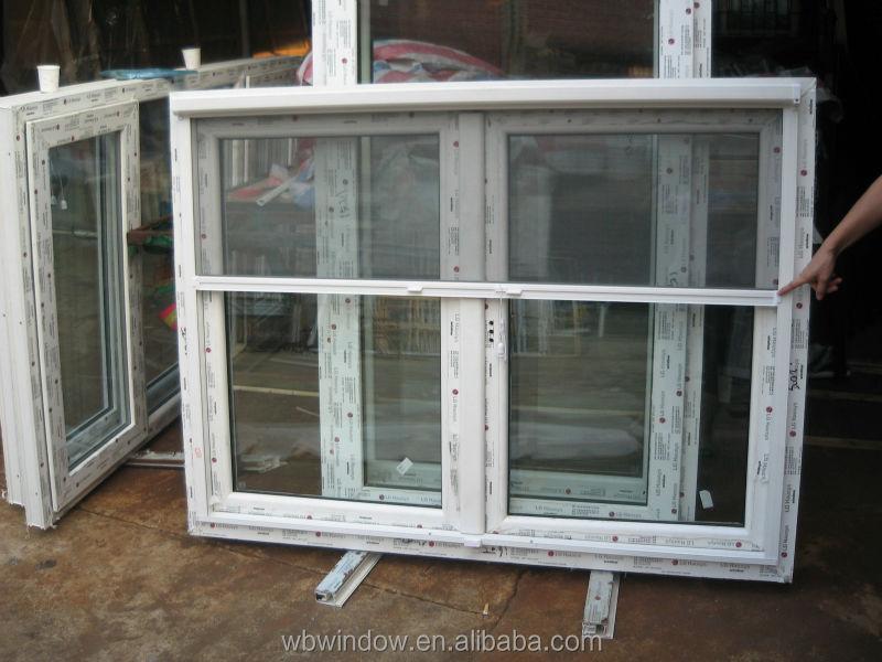 French pvc upvc casement window with folding mosquito net for Mosquito net for french doors