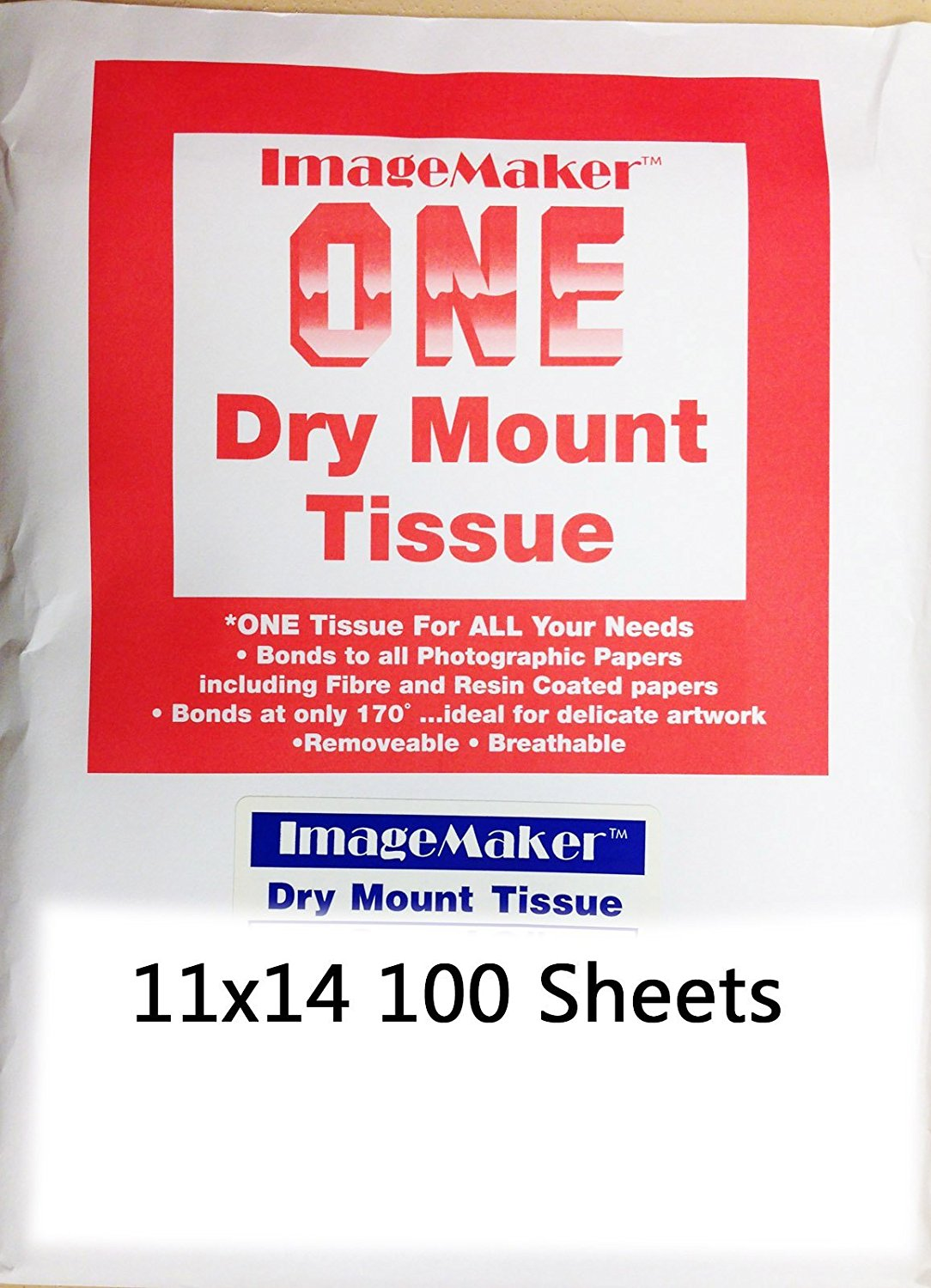 Image Maker Photographic Dry Mount Tissue 11x14-100 Sheets