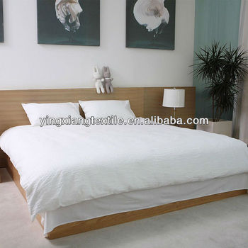 Bleached White Satin Stripe Bed Bed Sheet