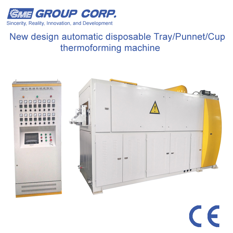 Automatic Hydraulic Plastic Cup Thermoforming Machine used to water drinking cups ice-cream cups dishes bowls trays