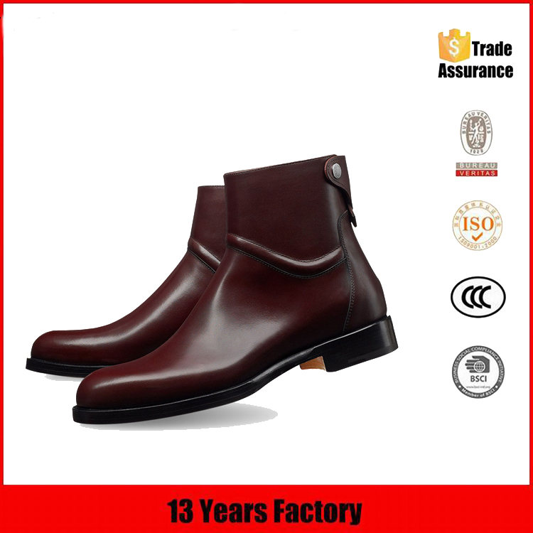 gentlemen man man for boots shoes leather Christmas boots Short for ankle genuine qXwn6XA0
