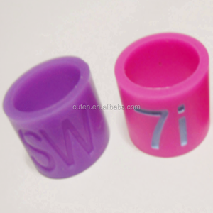 Customized Flexible Silicone Rubber finger Ring with alphabet