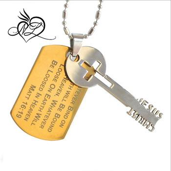 Top Qualitäts und Markenprodukte Edelstahl Hundemarke Goldenen Schlüssel Anhänger Halskette Für Männer Buy Hundemarke Halskette Für Kinder,Schöne