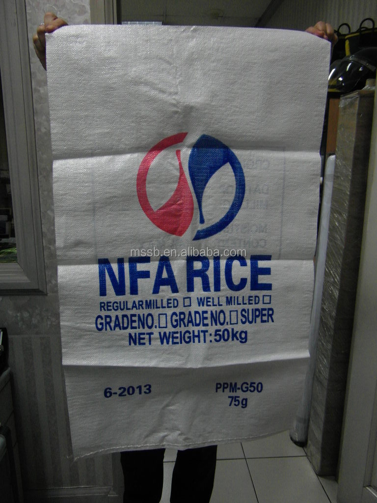 Hot Sell China Supplier 60 115cm 50kgs Rice Sack Rice Bag
