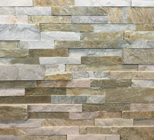 China P014 Beige Brown Slate Ledge Stone Panels with Corners, Quartzite Cultured Stacked Natural Yellow Color Stone