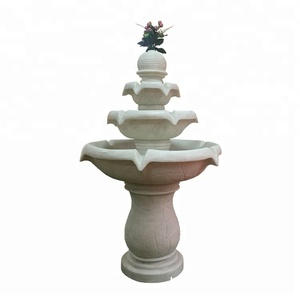 Sandstone Outdoor 3 Tier Ornamental Waterfalls and Water Fountains
