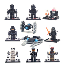 1 pc Star Wars The Force Awakens movie Star War Kid Baby Toy Mini Figure Building Blocks Sets Model Minifigures Brick