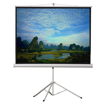 Indoor/Outdoor HD Mobile Tripod Standing Projector Projection Screen