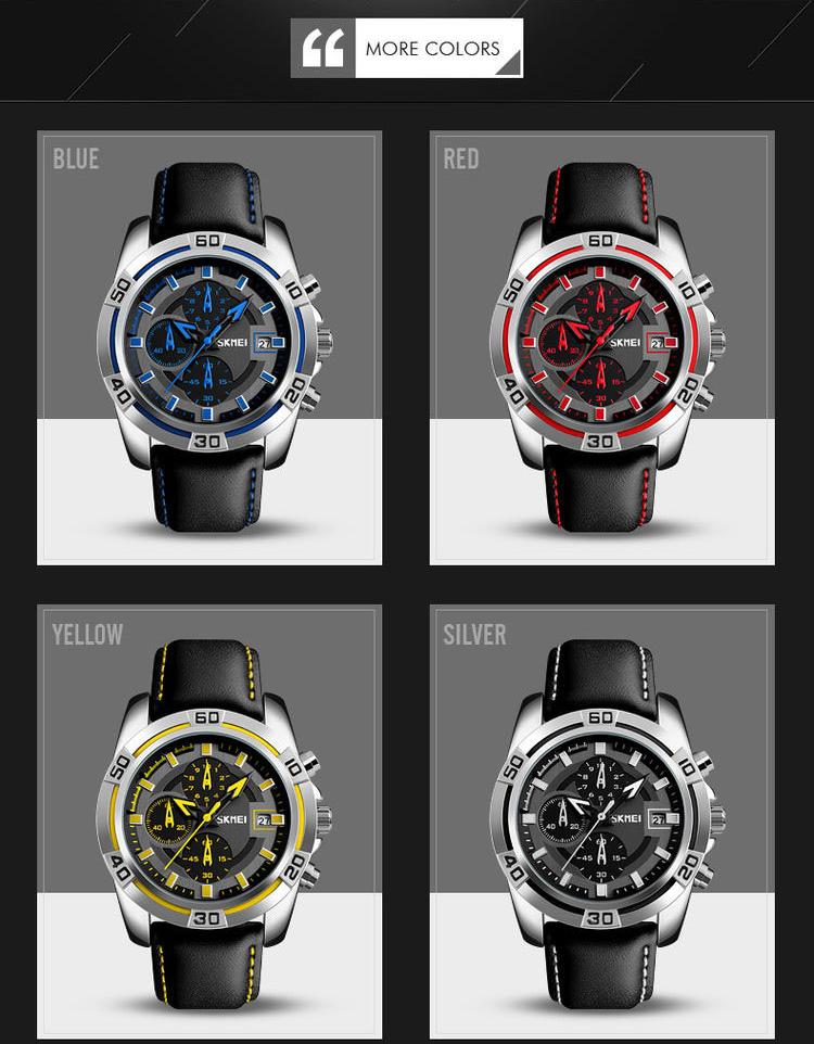 bd26dcf7987 ... 2017 mejor venta azul del reloj Skmei  9156 de los hombres de lujo  cronómetro de