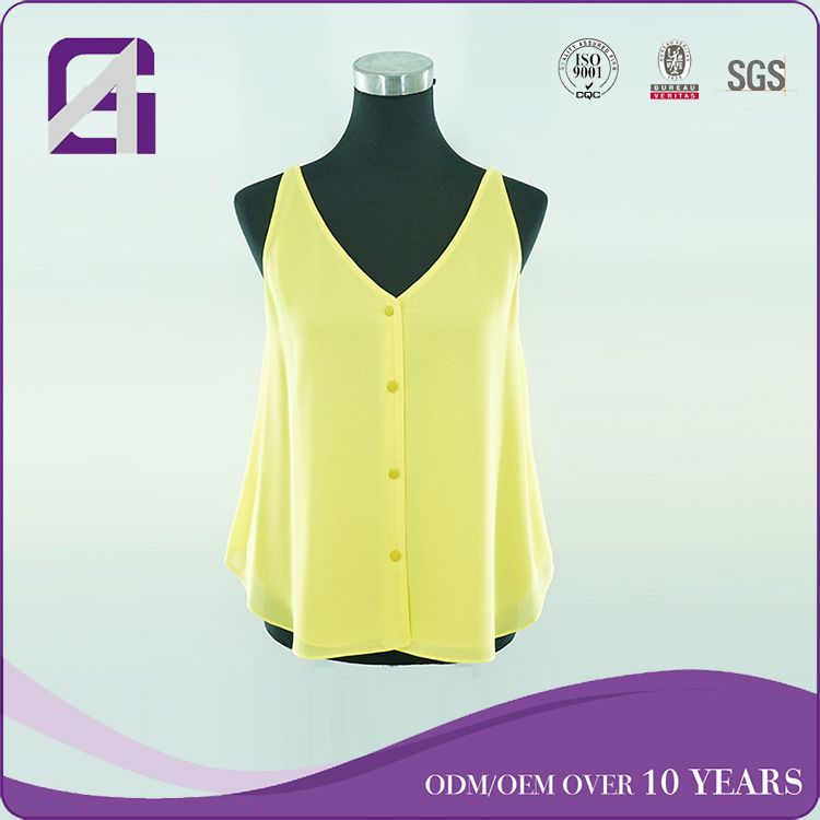 Sample quality sleeveless cotton tank tops for Euro market