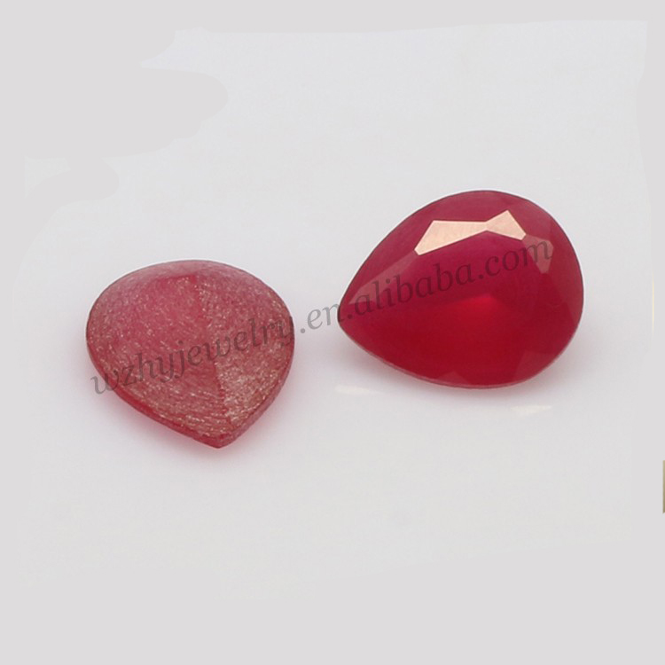 Wuzhou factory synthetic stone cheap price of raw ruby