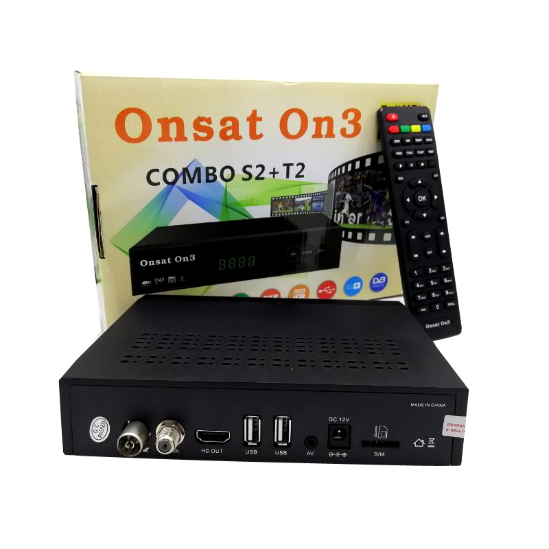 Onsat On3 Combo Dvb-t2 Dvb-s2 Satellite Receiver H 264 Powervu Biss Key  Ccam Newam Youtube Usb Wifi 1080p Full Hd - Buy Onsat On3 Dvb-s2/t2