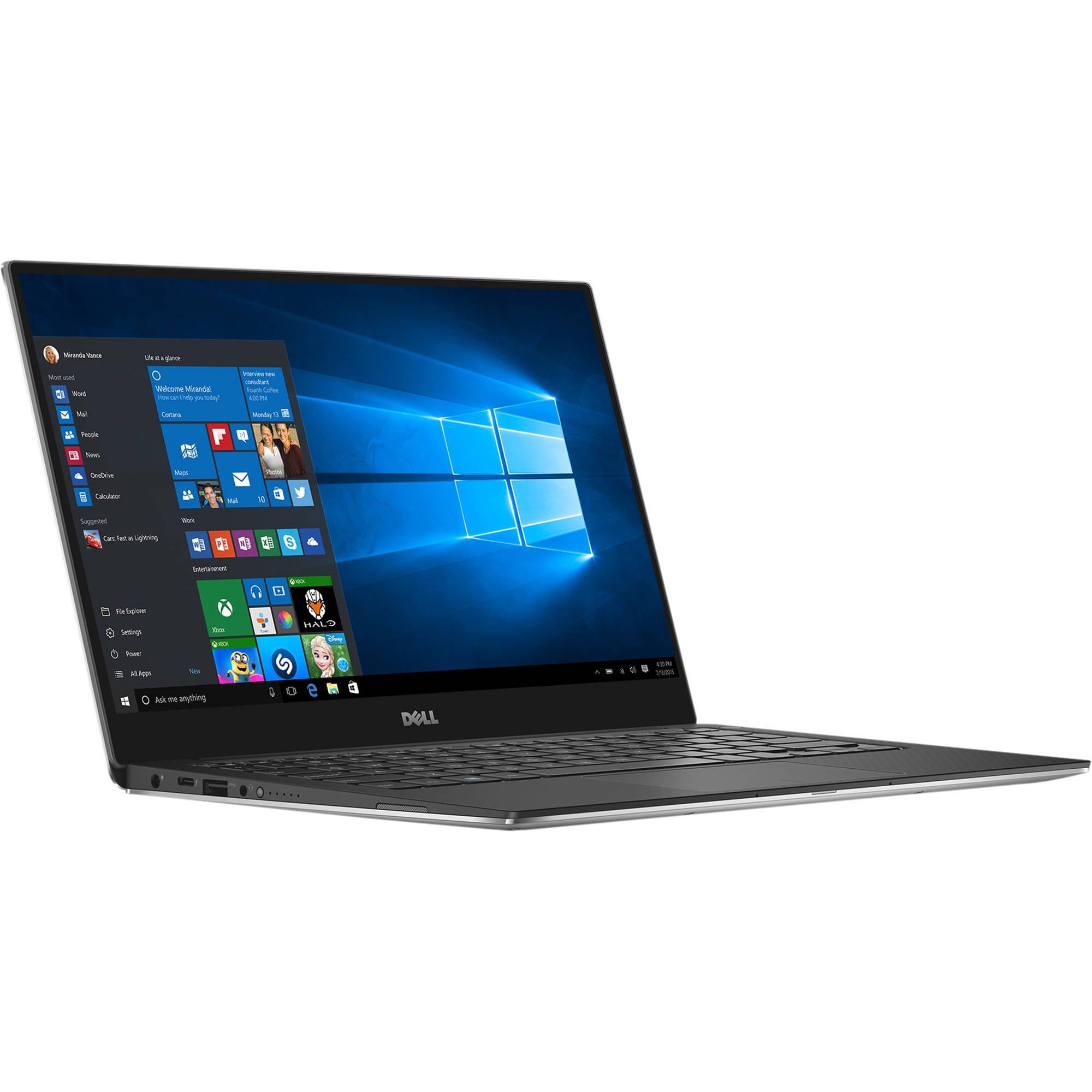 "Dell XPS 13 9360 Laptop - 13.3"" Anti-Glare InfinityEdge TouchScreen FHD (1920x1080), Intel Quad-Core i5-8250U, 512GB NVME PCIe SSD, 8GB RAM, Backlit Keyboard, Thunderbolt 3, Windows 10 - Silver"