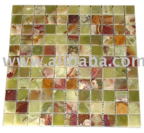 DARK GREEN ONYX POLISHED MOSAIC TILE TILES KITCHEN BACKSPLASH BATHROOM MARBLE GRANITE GLASS SHOWER WALL FLOOR TUB MOLDING BORDER