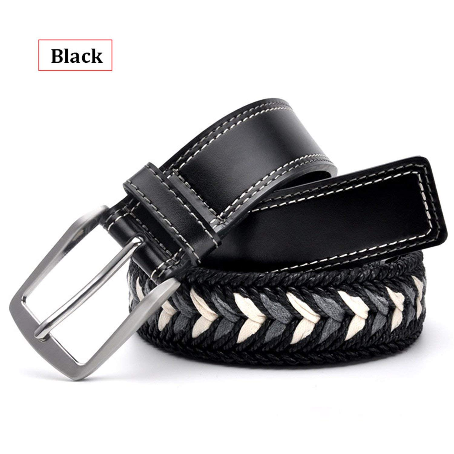 Thadensama Hot New Belt Women Fashion Mens Belts Braided Genuine Leather Straps Men Jeans Wide Girdle Male Casual Belt