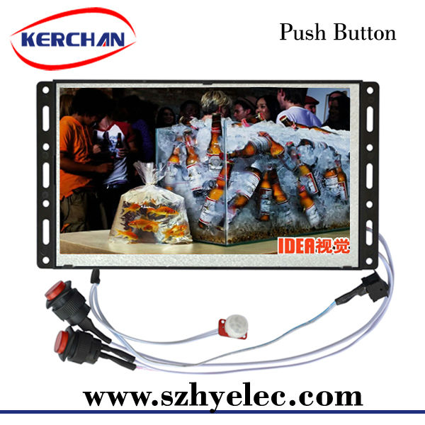 Open frame battery operated video player for nokia phones