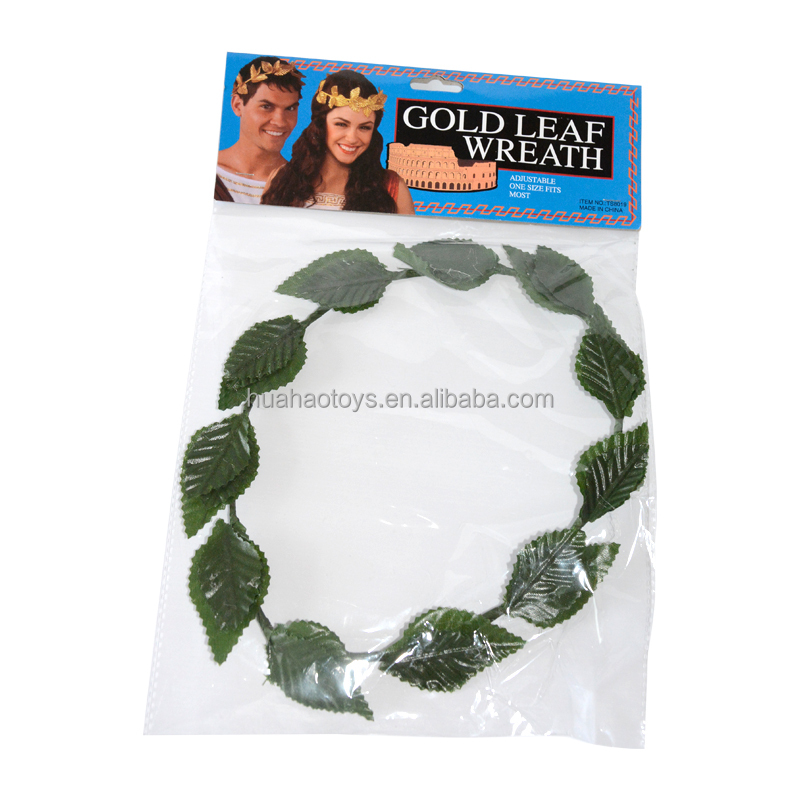 FAIRYTALE GREEN LAUREL LEAF HEADBAND ladies mens womens fancy dress accessory