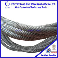 DIN and GB/T 19*7-5mm Zinc (galvanized) coated steel aircraft cable