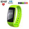 ID107 Bluetooth Smart Bracelet Band Heart Rate Monitor Pedometer Fitness Tracker Wristband for iPhone 5s 6s for Samsung S6 S7