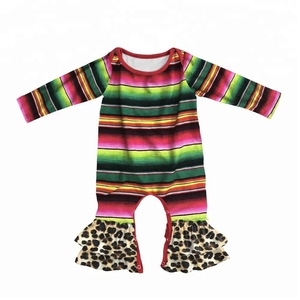 Leopard Patterns Girls Fall Winter Party Outfit Mexican Serape outfit holiday clothing