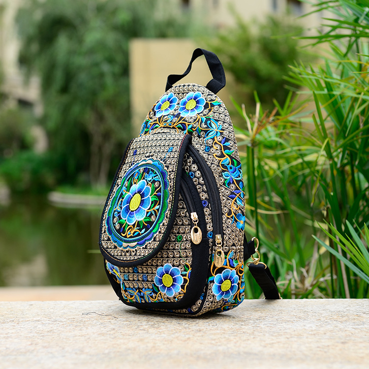 Boho Tote Bag,Canvas Tribal Backpack,Aztec Backpack