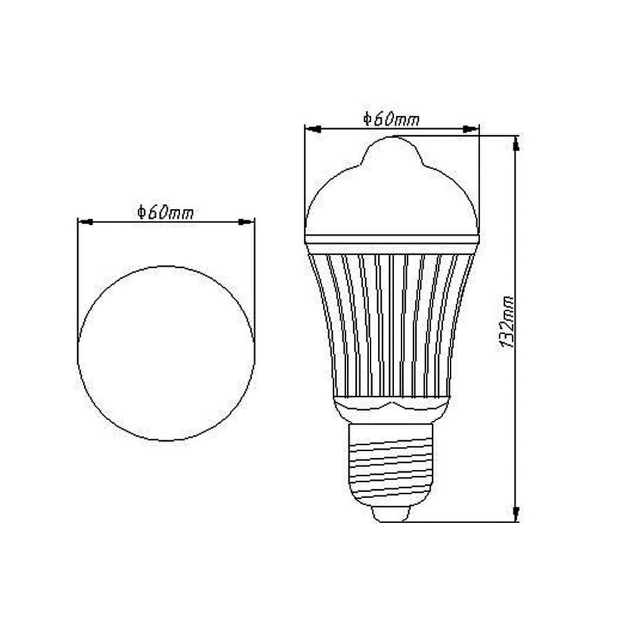 Smart Intelligent energy saving Home Lighting motion sensor bulb e27 light led light bulbs
