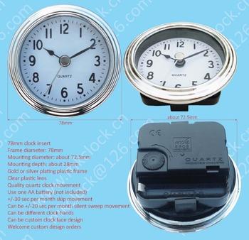 78mm Clock Fit Up Clock Insert Quartz Clock Unit Movement Clock Decoration  Quartz Clock Movement Assembly - Buy Fit Up Clock,Quartz Clock Unit,Clock