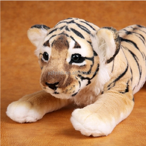 Realistic Soft Stuffed Animals Tiger Plush Toys Pillow Animal Lion Peluche Doll Toys For Children