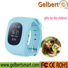 GSM children watches sos calling function q50 smart kids gps watch