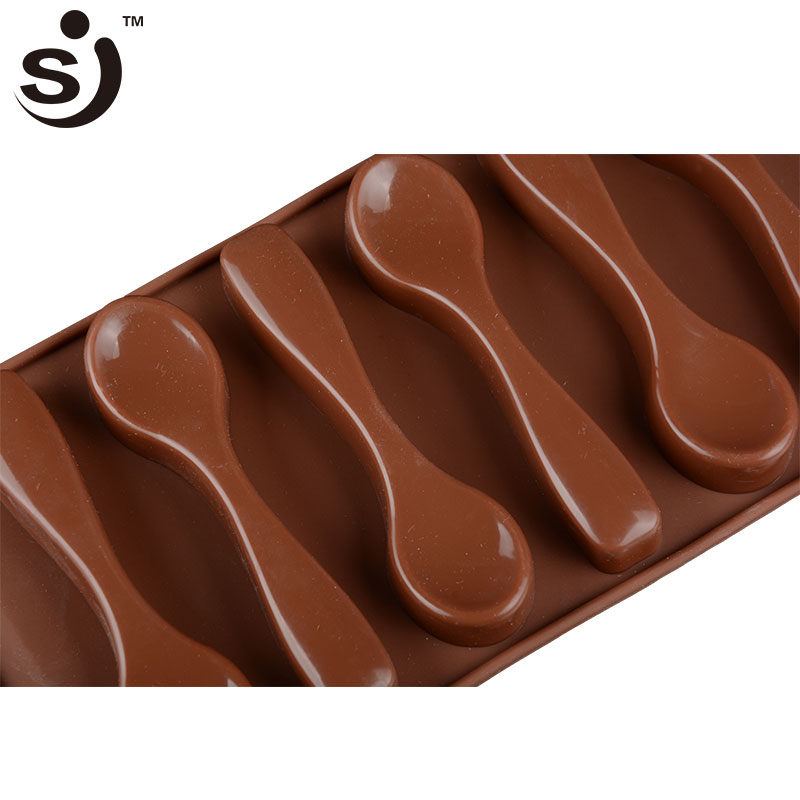 Home Cake Moulds 1 Pc 6 Holes Spoon Shape Chocolate Molds Silicone Diy Cake Decoration Molds Jelly Ice Baking Mould Spoon Professional Design Home & Garden Baking & Pastry Tools
